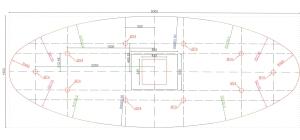 Plan de l'ovale de plafond, Bureau Dauphine 27 d'Ingre