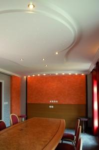 Poire lumineuse et équerre cintrée, Hôtel Le Fruitier de Villedieu Les Poêles (50)