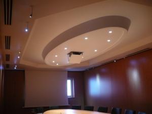 Éclairages de l'ovale de plafond, Bureau Dauphine 27 d'Ingre