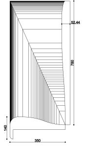 Plan d'un profil d'encadrement, Palais du Président, Tashkent (Ouzbekistan)