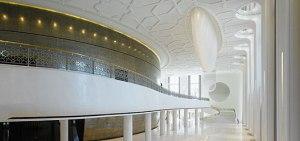 Motifs du plafond en stratistaff, Palais du Président, Tashkent (Ouzbekistan)