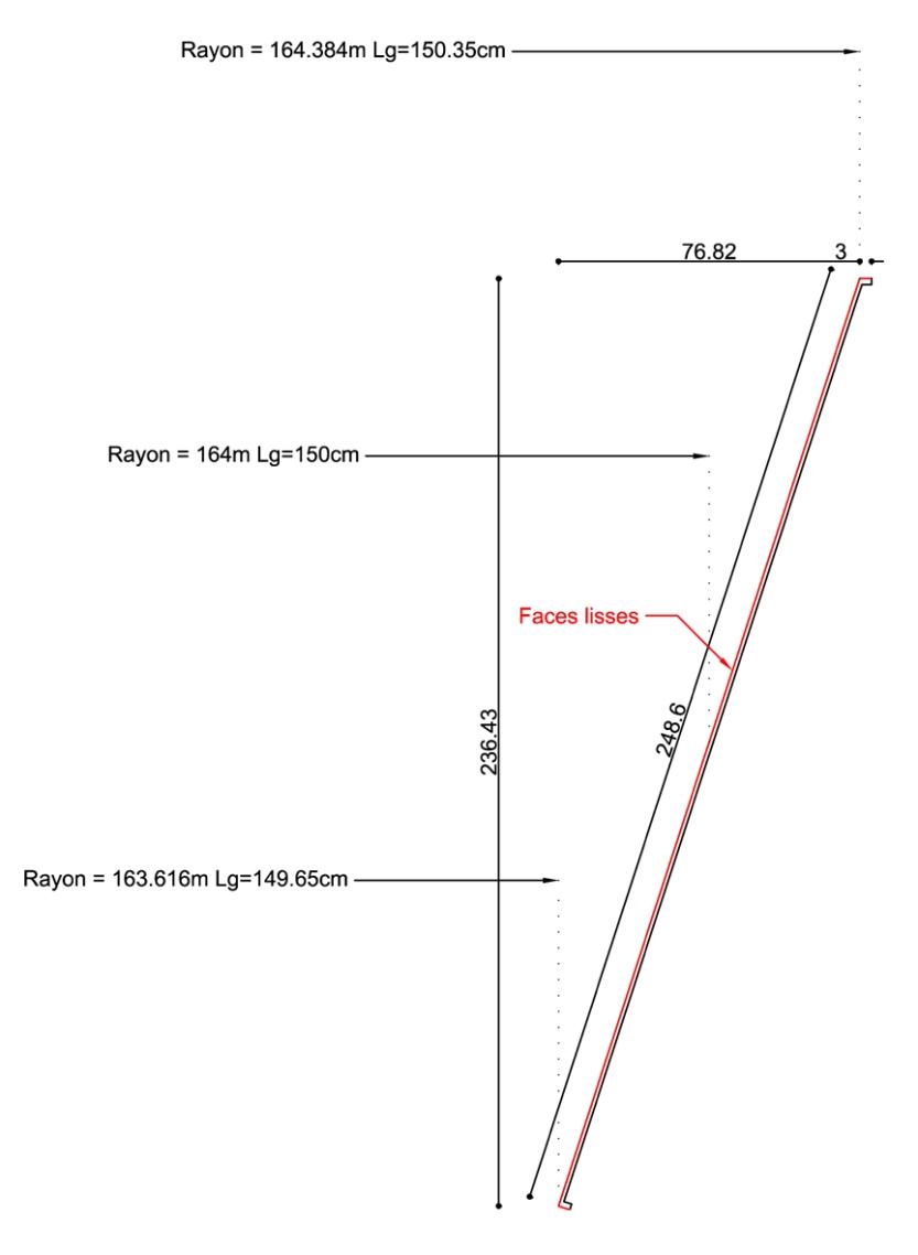 Plan d'un profil cintré sur mesure, Leclerc de Saint-Grégoire (35)
