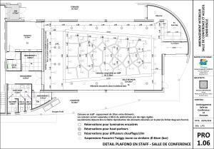 PLAN de la salle de conférence, siège social de VIVADOUR (32)